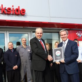 Parkside is awarded the Customer Excellence Award for the 3rd Year running!